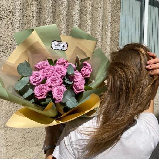 Букет из роз фиолетового цвета «Олива»