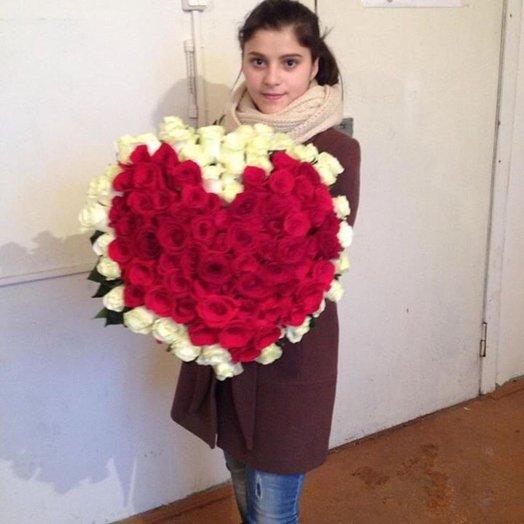 Букет Сердечко: букеты цветов на заказ Flowwow