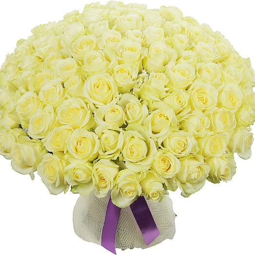101 белая роза (70 см) (S4025)