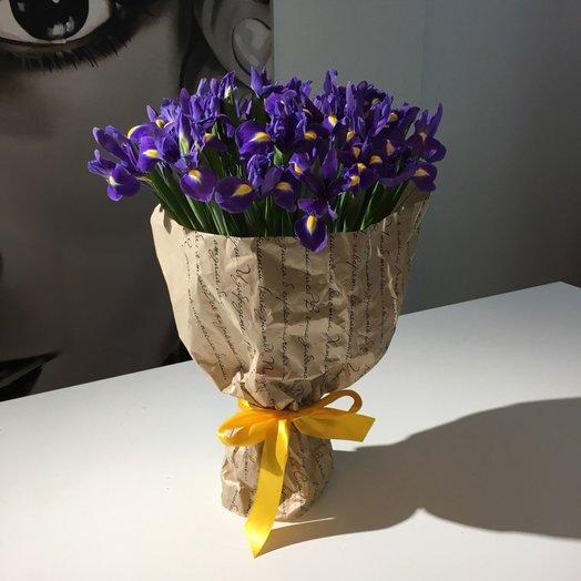 25 синих ирисов: букеты цветов на заказ Flowwow