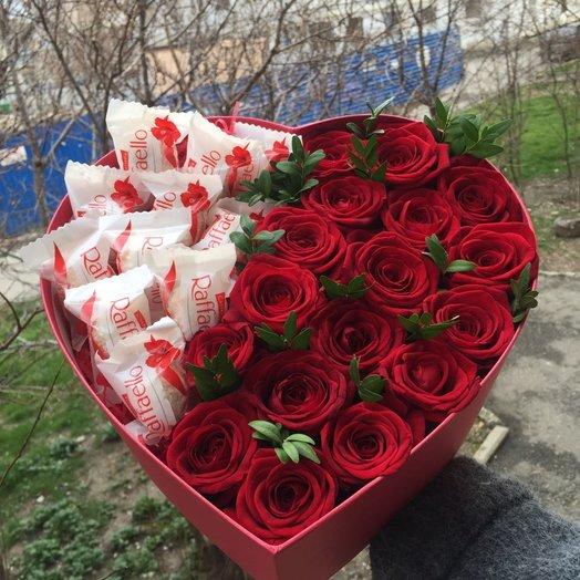 Бархатное сердце: букеты цветов на заказ Flowwow