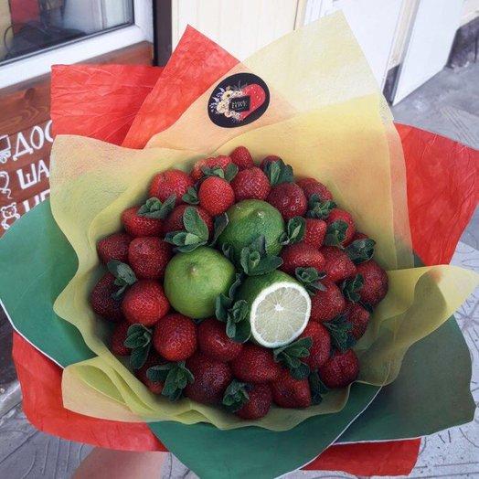 """Букет """"Клубничный мохито"""": букеты цветов на заказ Flowwow"""