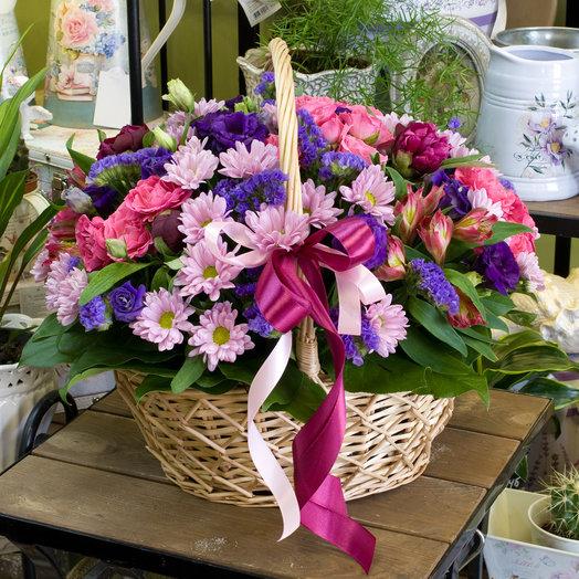 """Корзина цветов """"Красота в гармонии"""""""