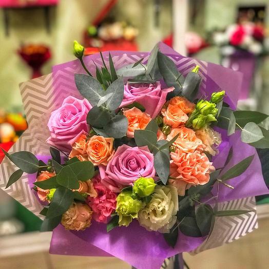 Букет «Бонжур»: букеты цветов на заказ Flowwow