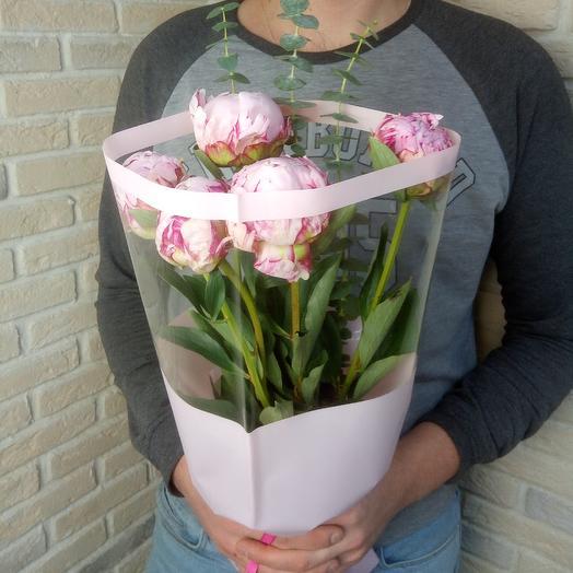 Пионы 5 шт: букеты цветов на заказ Flowwow