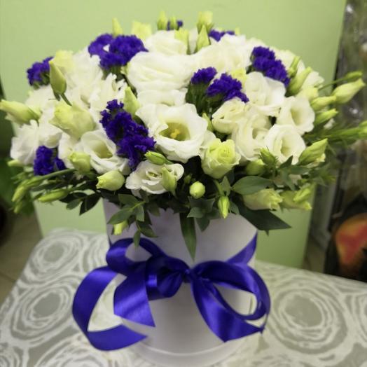 Композиция из эустомы: букеты цветов на заказ Flowwow