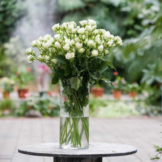 Букет из кустовой розы: букеты цветов на заказ Flowwow