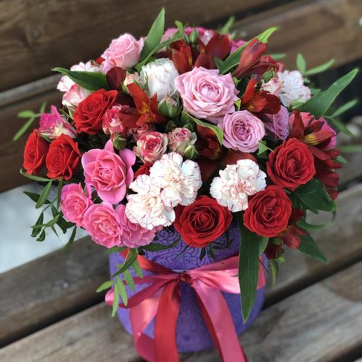 Цилиндр «МАЛИНА-Ежевика»: букеты цветов на заказ Flowwow