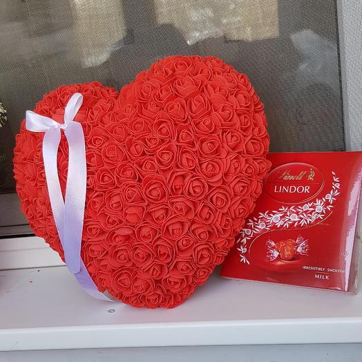 Сердце от сердца: букеты цветов на заказ Flowwow