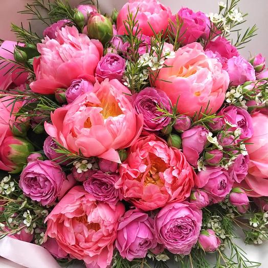 Букет «Корал»: букеты цветов на заказ Flowwow