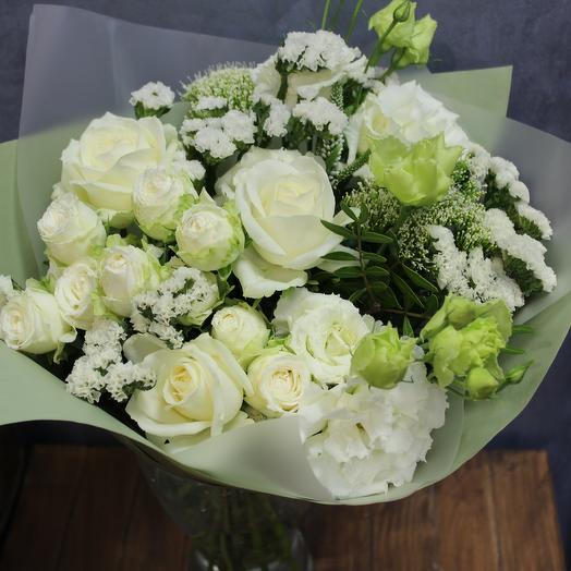 Букет с розами Акварель
