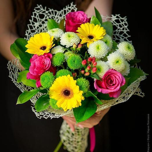 Букет с  желтыми герберами: букеты цветов на заказ Flowwow