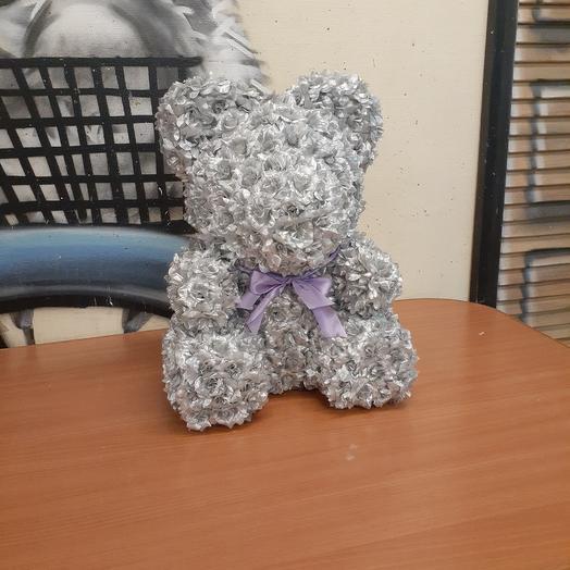 Мишка серебро: букеты цветов на заказ Flowwow