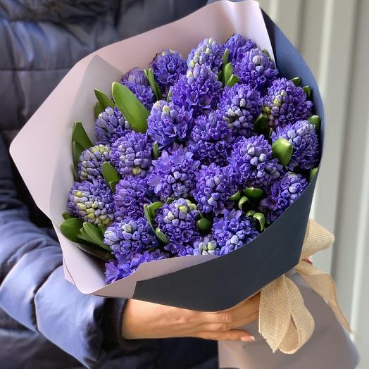 25 синих гиацинтов: букеты цветов на заказ Flowwow