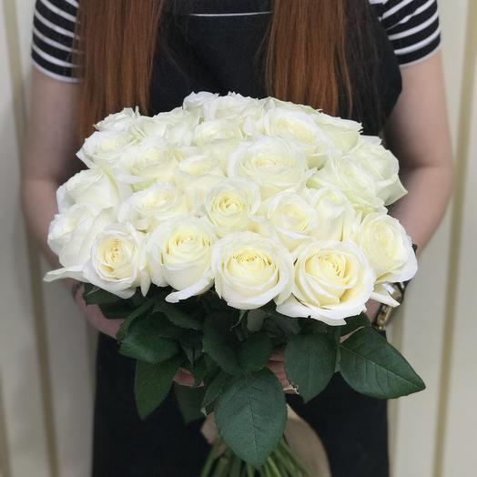 21 Роза белая 50 см