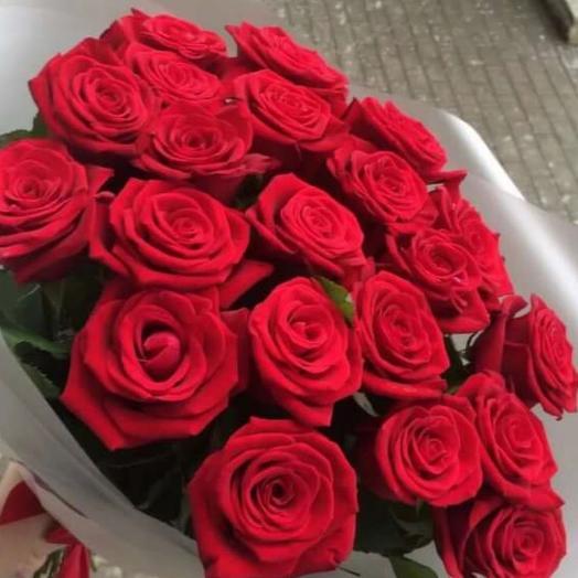 Букет из 21 свежей красной ароматной розы