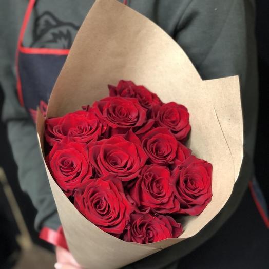 Красные розы эквадор 60см