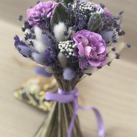Букетик лаванды с розами