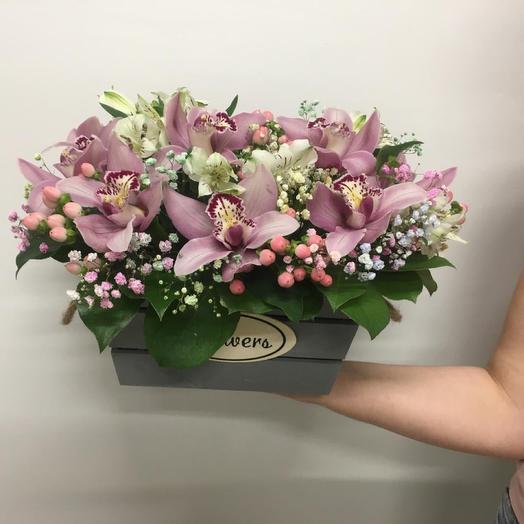 Ящик Летние Краски: букеты цветов на заказ Flowwow