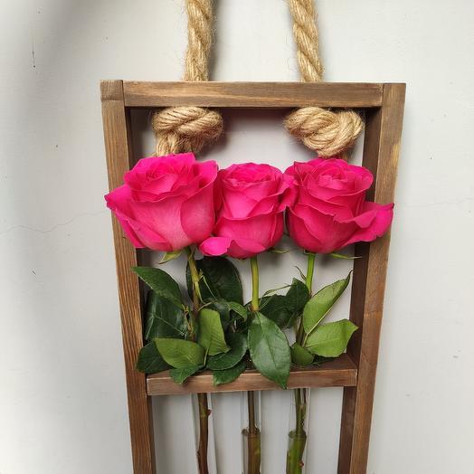 Подвесная Экорамка с розами