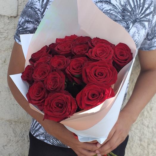 19 красная роза