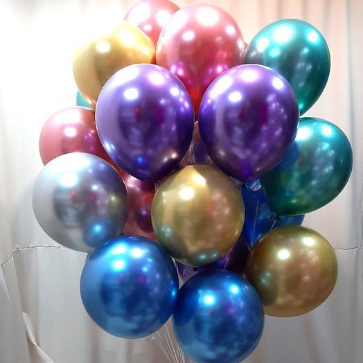 Букет из 20 шаров хром ассорти