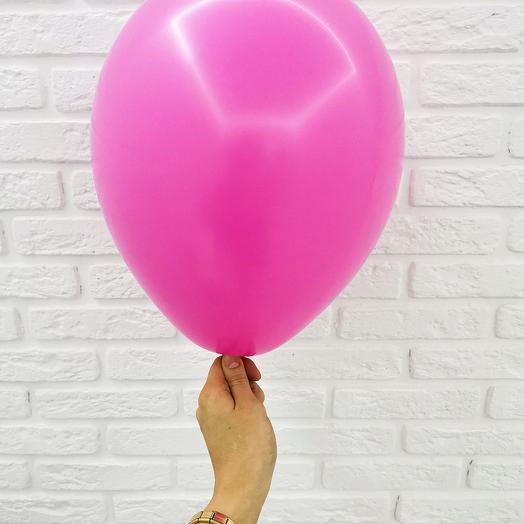 12 Фуксия Гелиевый шар пастель 30см с обработкой