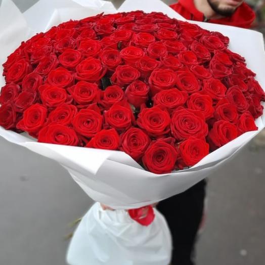 Букет из 101 розы (80 см)