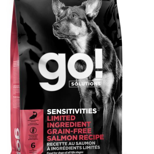 GO! беззерновой корм для щенков и собак с лососем для чувствительного пищеварения 5,44 кг