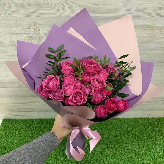 Букет из пионовидных роз Мисти Баблз (9 шт)