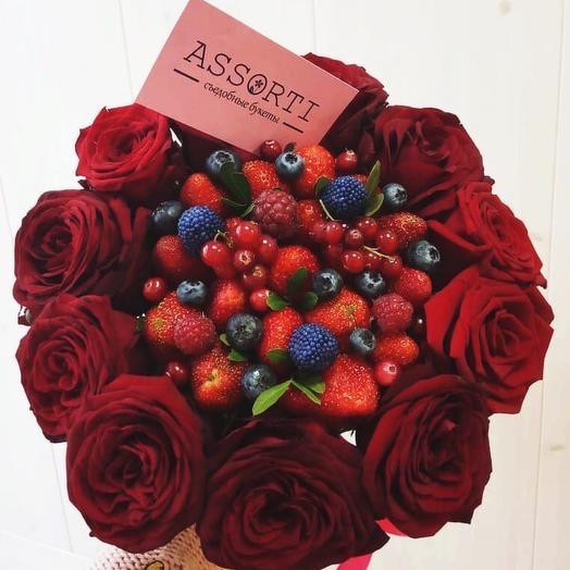 Клубничный букетик «Лесные ягоды»
