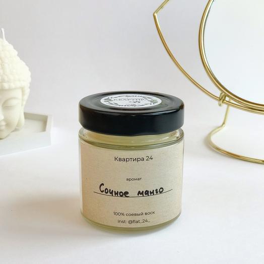 Соевая свеча с ароматом «Сочное манго»