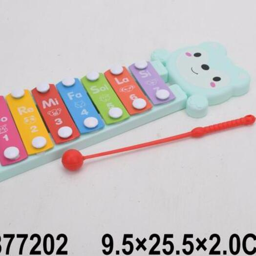 Ксилофон-7 тонов, палочка, в/п 9,5*25,5*2 см