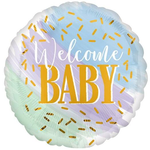 "Шар круг ""Welcome baby"""