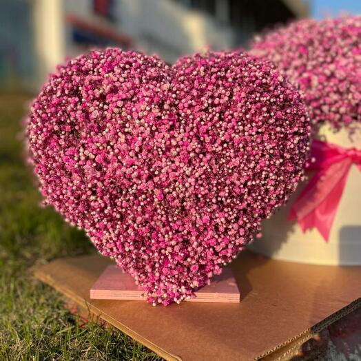 Сердце из гипсофилы