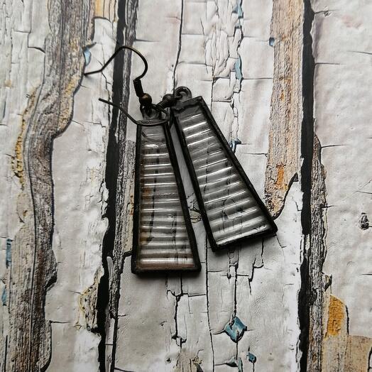 Серьги из витражного стекла ручной работы