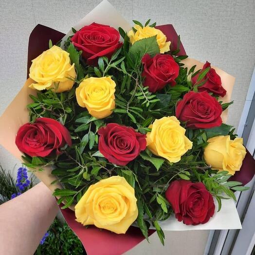 Монобукет из роз Эквадор