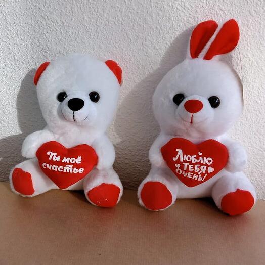 Мишка или Зайка с сердечком (выборочно)