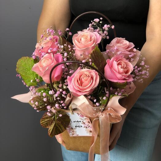Сумка с розами