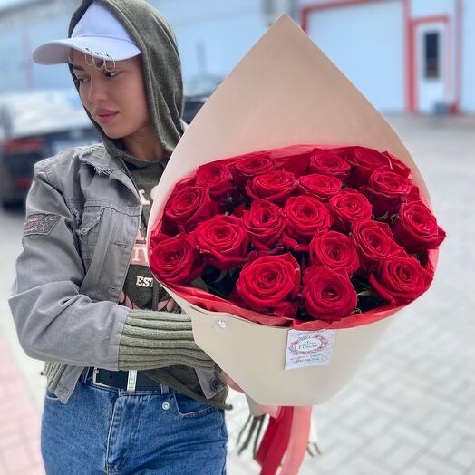 Букет Красных Роз в нежной упаковке