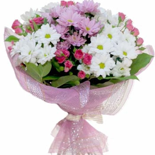 Букет из хризантем Нежные чувства: букеты цветов на заказ Flowwow