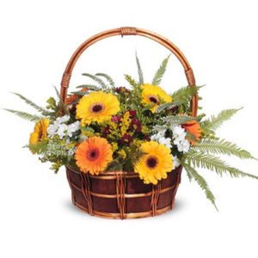 164802 Корзина Краски осени: букеты цветов на заказ Flowwow