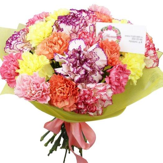 Букет из 25 гвоздик Конфетти: букеты цветов на заказ Flowwow