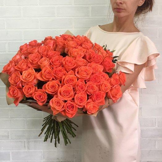 Букет оранжевых роз: букеты цветов на заказ Flowwow