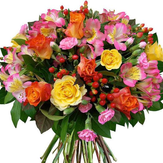 Яркий букет цветов Знойное лето: букеты цветов на заказ Flowwow