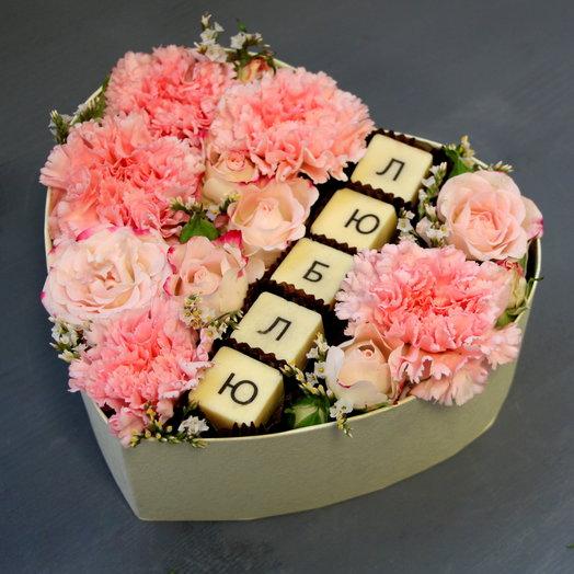 """""""ЛЮБЛЮ"""": букеты цветов на заказ Flowwow"""