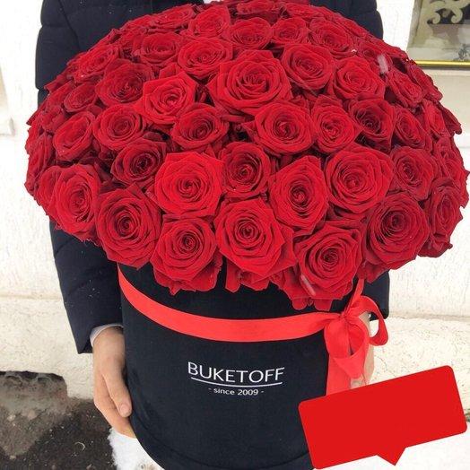 BuketoffBox 101 роза: букеты цветов на заказ Flowwow