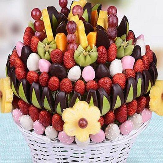 Фруктовый букет БОЛЬШОЙ ПРАЗДНИК: букеты цветов на заказ Flowwow