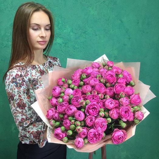 Пионовидная роза Мисти баблс: букеты цветов на заказ Flowwow