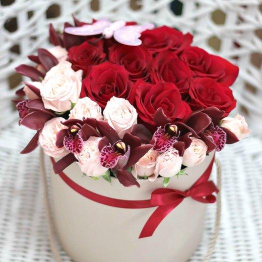 "Шляпная коробка ""Десерт"": букеты цветов на заказ Flowwow"